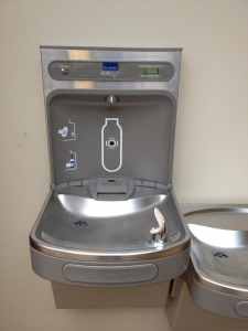 Hydration station in the Athletic Center
